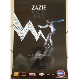 ZAZIE - Cyclo Tour - AFFICHE / POSTER envoi en tube