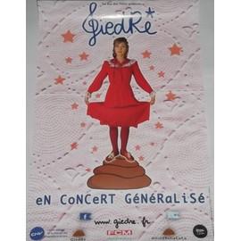 GiedRé - En Concert Généralisé - AFFICHE / POSTER envoi en tube
