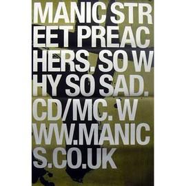 Manic Street Preachers - So Why So Sad - AFFICHE / POSTER envoi en tube