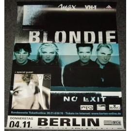 Blondie - No Exit Tour - AFFICHE / POSTER envoi en tube