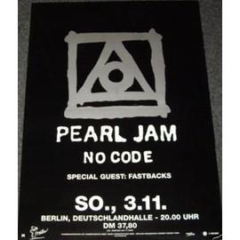 Pearl Jam - No Code Tour - AFFICHE / POSTER envoi en tube