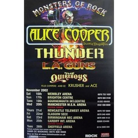 Alice Cooper - Monsters Of Rocks - AFFICHE / POSTER envoi en tube