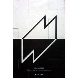 M - Mathieu CHEDID - AFFICHE / POSTER envoi en tube