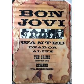 Bon Jovi - wanted - AFFICHE / POSTER envoi en tube