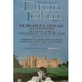 Elton JOHN - Burghley House, Lincs 13/14.6.00 - Original Promo Poster - AFFICHE / POSTER envoi en tube