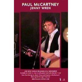 Paul McCartney - Jenny Wren - AFFICHE / POSTER envoi en tube
