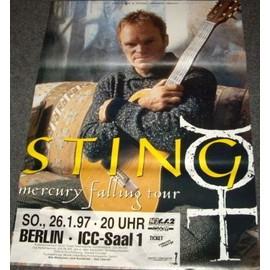 Sting - Mercury Falling Tour - AFFICHE / POSTER envoi en tube