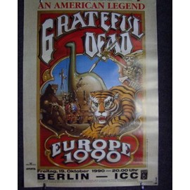 Grateful Dead - Tour 1990 - AFFICHE / POSTER envoi en tube
