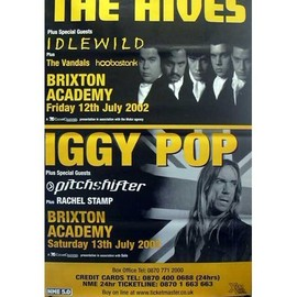 The Hives - Iggy Pop - Londo,n - AFFICHE / POSTER envoi en tube