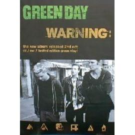 GREEN DAY - Warning (Q) (K) - AFFICHE / POSTER envoi en tube