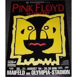Pink Floyd - Berlin 1994 - AFFICHE / POSTER envoi en tube