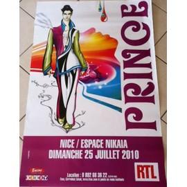 PRINCE - Concert 2010 - AFFICHE / POSTER envoi en tube