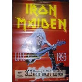 Iron Maiden - Live 1993 - AFFICHE / POSTER envoi en tube