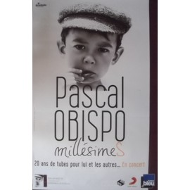Pascal OBISPO - Millésimes - AFFICHE / POSTER envoi en tube
