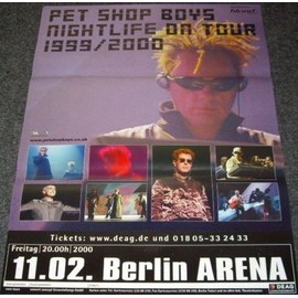 Pet Shop Boys - Nightlife Tour 2000 - AFFICHE / POSTER envoi en tube