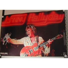 Johnny HALLYDAY - Concert 1979 - Pavillon de Paris - AFFICHE / POSTER envoi en tube