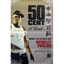 50 CENT - Wembley 2005 - AFFICHE / POSTER envoi en tube