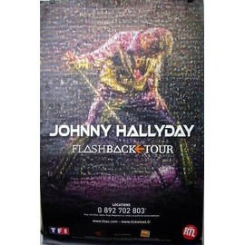 Johnny HALLYDAY - Flashback Tour - AFFICHE / POSTER envoi en tube