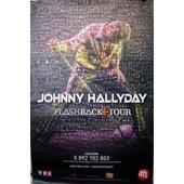 Johnny Hallyday - Flashback Tour - Affiche / Poster Envoi En Tube