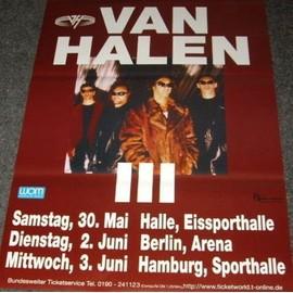 Van Halen - Concet Tour - AFFICHE / POSTER envoi en tube