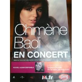 Chimène Badi - - AFFICHE / POSTER envoi en tube