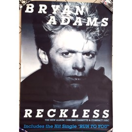 Bryan Adams - Reckless - AFFICHE / POSTER envoi en tube