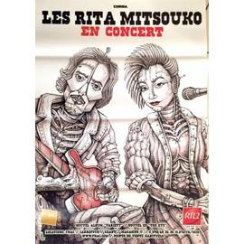 Les Rita Mitsouko - Variety en concert - AFFICHE / POSTER envoi en tube