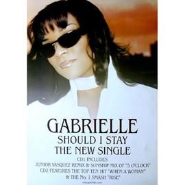 Gabrielle - Should I Stay - AFFICHE / POSTER envoi en tube