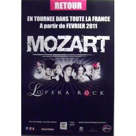 MOZART - L'Opéra Rock - AFFICHE / POSTER envoi en tube