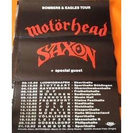 Motörhead - Saxon - Bomber & Eagles Tour - AFFICHE / POSTER envoi en tube