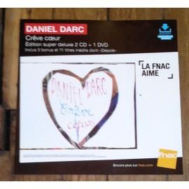 PLV souple 30x30cm DANIEL DARC crêve coeur / magasins FNAC