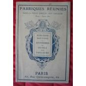 Catalogue Fabriques R�unies Pour La Vente Directe Aux Tailleurs � Mercerie Boutons Accessoires Et Outils Pour Tailleurs de collectif
