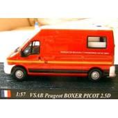 Peugeot Vsab Boxer Picot 2.5 D Pompier Delprado 1/57 Fire Secours & Assistance