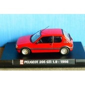 Peugeot 205 Gti 1.9 1986 Red Autoplus 1/43 Rouge Rosso Ixo Boitier Blister Rot