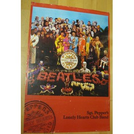 affiche / poster : sgt. pepper's lonely hearts club band ( the beatles )