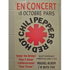 RED HOT CHILLI PEPPERS Affiche de concert