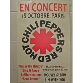 RED HOT CHILLI PEPPERS Affiche de concert