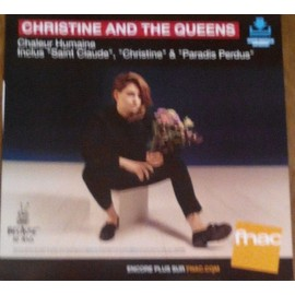 PLV souple 30x30cm CHRISTINE AND THE QUEENS chaleur humaine / magasins FNAC