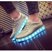 Chaussure Led Femme Homme 7 Couleurs Usb Rechargeable Baskets