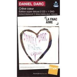 PLV cartonnée rigide 14x25cm DANIEL DARC crêve coeur / magasins FNAC