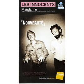 PLV cartonnée rigide 14x25cm LES INNOCENTS ( JP Nataf ) Mandarine / magasins FNAC