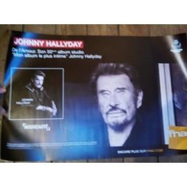 rare PLV souple 38x56cm JOHNNY HALLYDAY de l'amour 2015 / magasins FNAC