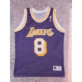 Maillot Retro Kobe Bryant Lakers Violet #8 Champion