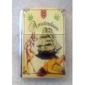 Briquet Temp�te � Essence -R�plique De Zippo - Pin-Up Rasta Reagge Amsterdam P�tard Gandja Weed Marie-Jeanne Mauvaises Herbes