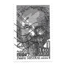Timbre oblitéré de 1980,n°2098.Frédéric Mistral.