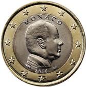 2 Euros Monaco 2014 - Albert Ii - Neuve De Rouleau