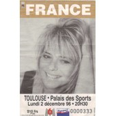 Ticket Billet Place Concert France Gall 1996 Toulouse