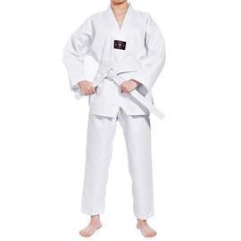 Costume Taekwondo 120- 160cm Blanc Enfant Karate Pants Suit+ Gratuit Ceinture