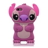 Coque Housse Etui En Silicone Pour Iphone 5 / 5s - Lilo & Stitch - Rose
