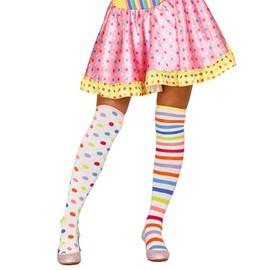 Bas Clown Pois Et Rayures